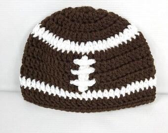 Football hat, Crochet Link Hat, Unisex All Sizes, Beanie hat, Baby, Child, Kid, Adult, Women, Men, Girl, Boy