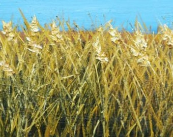 Wheat painting 47 12x36 inch oil painting by Roz