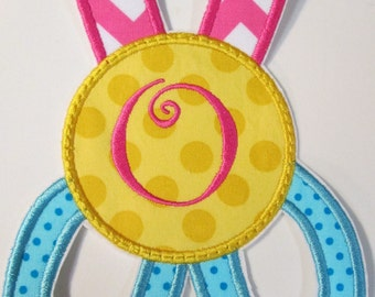 Back to School Monogram Scissors Iron on and Sew on Embroidered Applique