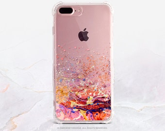 iPhone 8 Case iPhone X Case iPhone 7 Case Splatter Clear GRIP Rubber Case iPhone 7 Plus Clear Case iPhone SE Case Samsung S8 Plus Case U197