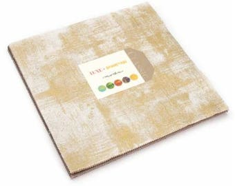 "Metallic Fabric - Luxe Brushstroke - Moda Classic Moda Fabrics - Layer Cake (42) 10"" inch squares"