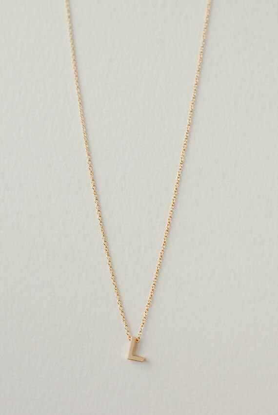 Personalized l initial necklace dainty jewelry custom aloadofball Gallery