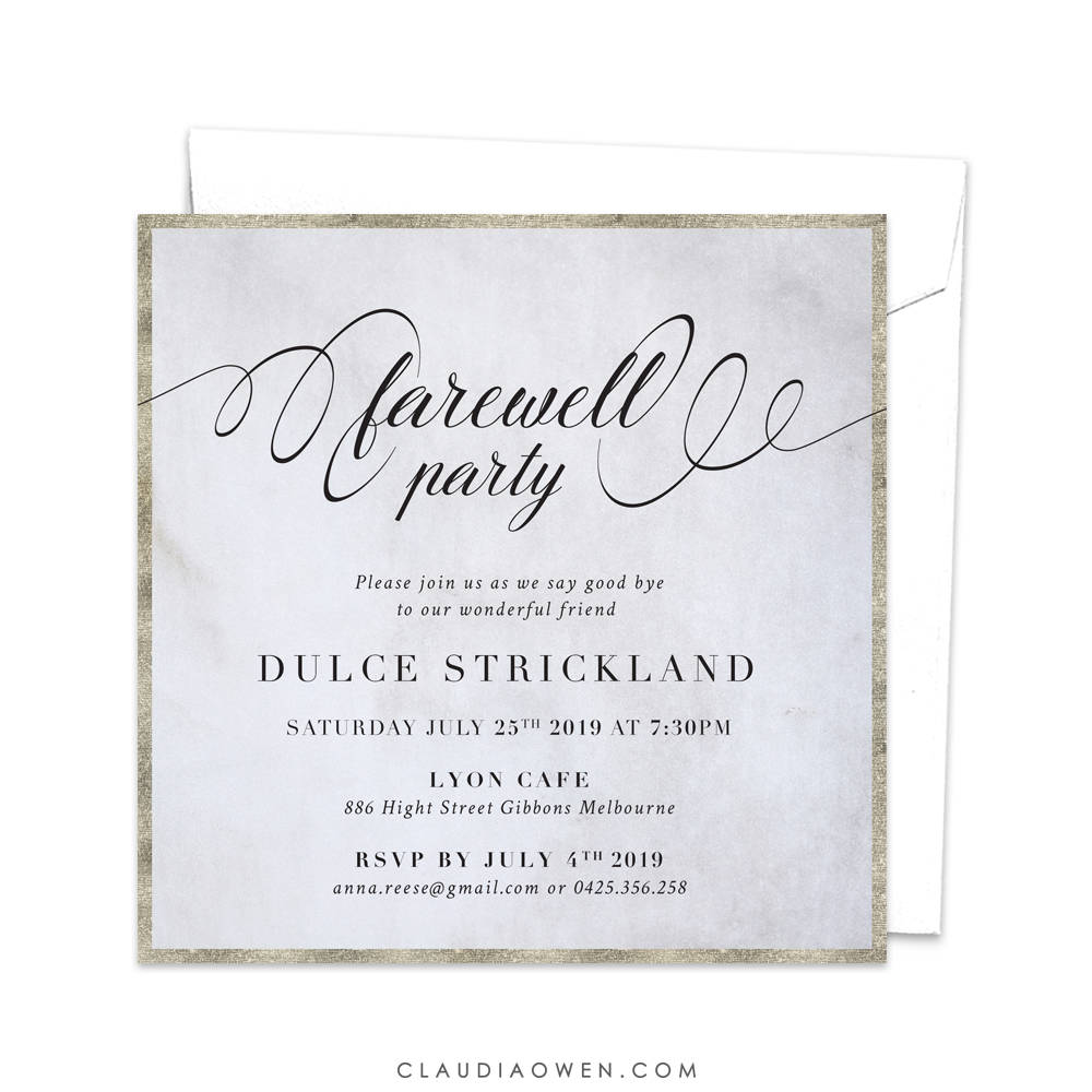 Farewell Party Invitation Goodbye Party Invitation Leaving