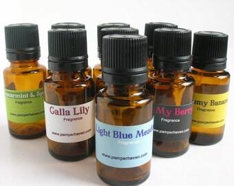 Light blue meadow fragrance oil, Clean floral scented oil, Fresh fragrant candle scent, Designer home fragrance
