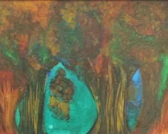 """Acrylic on Canvas, """"Trees"""""""