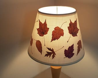 Pressed flower art - Pressed flower artwork Lampshade made with real dried flowers. Cone shaped Lamp shade - Dried flower art