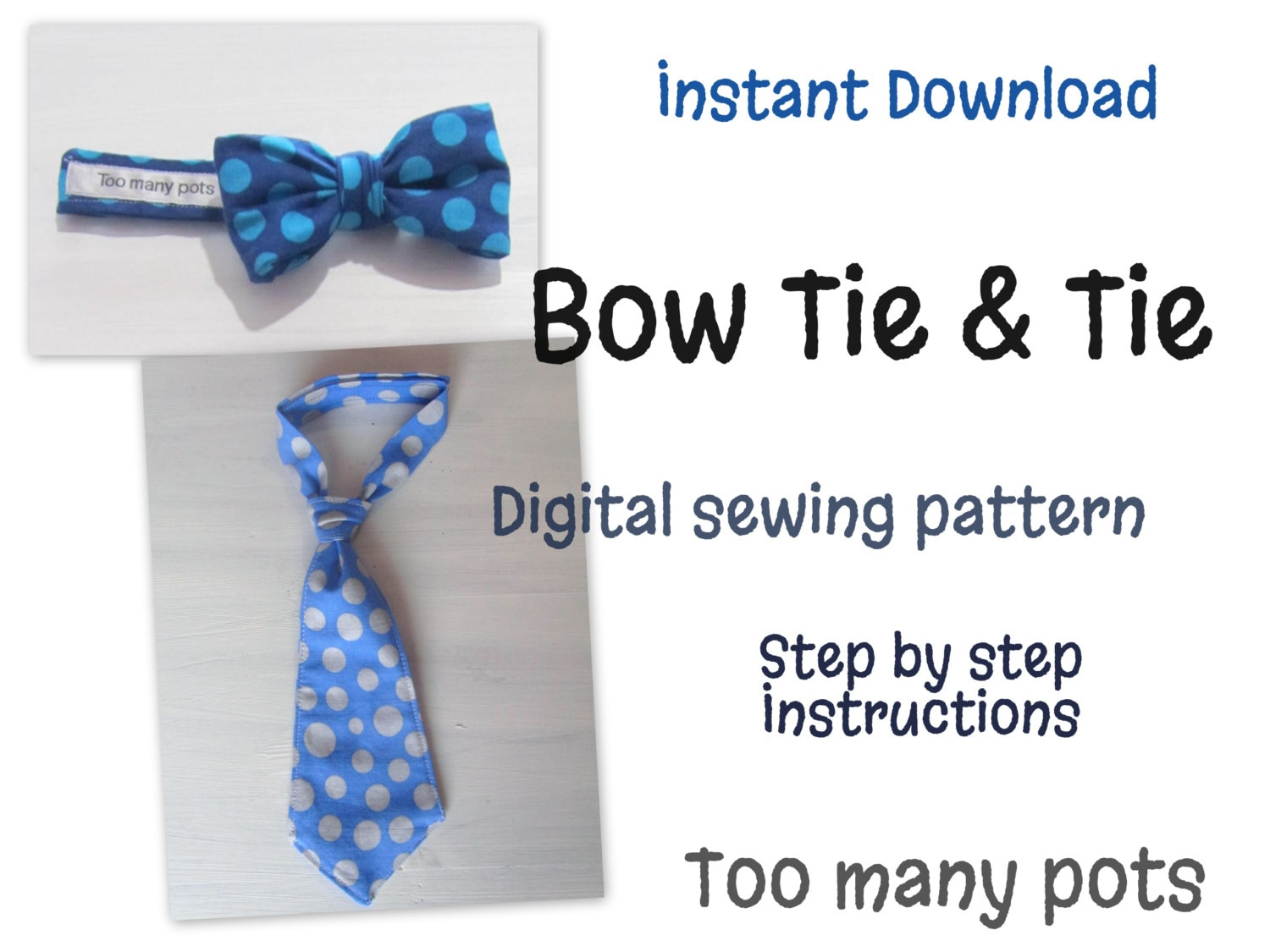 Instant download baby and child bow tie tie sewing pattern zoom jeuxipadfo Images