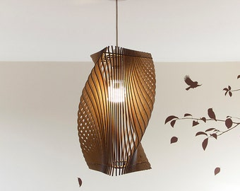 Twisted lasercut wooden lampshade no1 twisted lasercut wooden lampshade no2 medium aloadofball Gallery