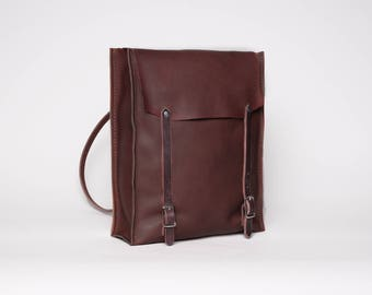 Leather Convertible Backpack & Tote | Chestnut