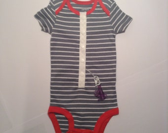3 month Size Modified G-Tube and other Medical Need Onesie