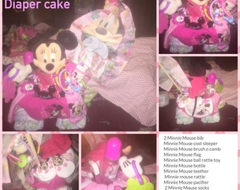 Mickey or Minnie Mouse  Diaper cake