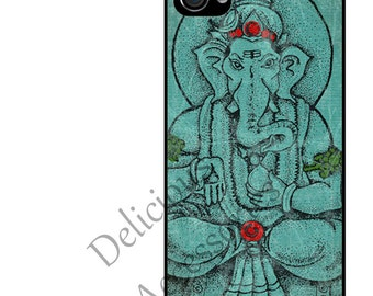 Case for Your Choice of Apple iPhone 4 / 4s / 5 / 6 / 6 Plus + / 7 LORD GANESHA  - Rubber Silicone