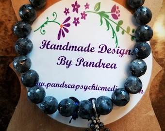 Handmade Larvikite Bracelet