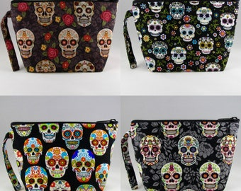 Sugar Skulls Gift Set - 4 Make Up Bags Gift Set - 4 Assorted Make Up Bags - Accessories - Cosmetic Bags - Bags - Pouches