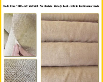 "Natural Burlap Jute Upholstery 10oz 60"" Wide By The Yard Hessian Fabric Craft Sack Wreath Hammock Table Runner Decorations Jute"