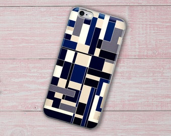 Blue Abstract, iPhone Case, Geometric iPhone Case, Phone Case, iPhone 8 Case, iPhone 8 Plus Case, iPhone X Case, iPhone 7 Plus Case,iPhone 6