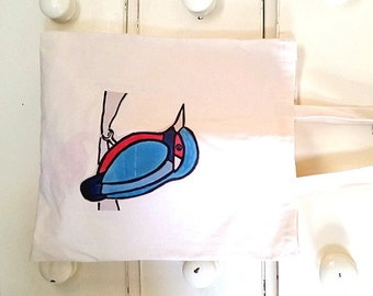 Kingfisher Bag, Tote Bag, Bird Bag, Kingfisher Tote, Bird Tote, Cotton Tote, Shopping Bag, Eco Tote Bag, Reusable Grocery Bag