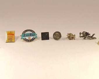 Vintage Pin Back Pin Lot 8 Pins