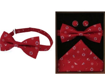 Yacht Club Nautical Bow Tie & Boxed Gift Set