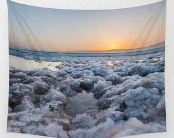 Sunrise Tapestry Dead Sea Beach Sunrise Stones Tapestry Sunshine Tapestry Photo Tapestry Sea View Tapestry Wall Hanging Sky Tapestry