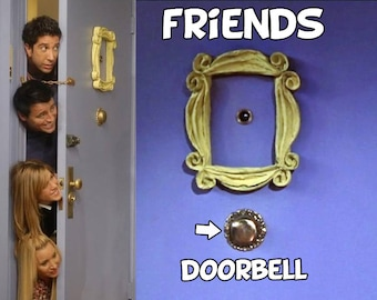 friends tv show DOORBELL REPLICA  for the friends peephole frame , door frame