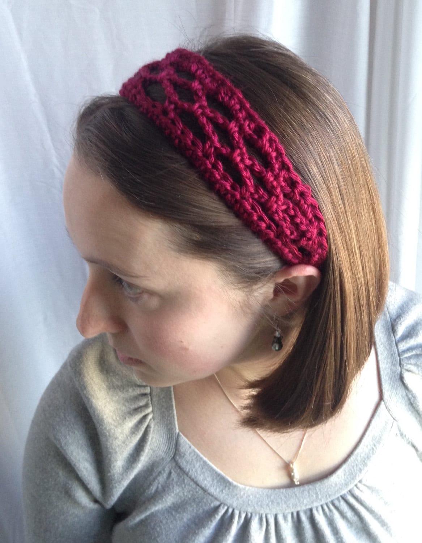 Crochet PATTERN - summer headband pattern, crochet headband pattern ...