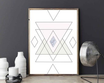 Geometric Abstract Poster, Geametric Print, Wall Decor, Abstract Poster, Minimalist Art, Modern Art, Abstract Wall Art.