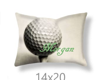 Customized Golf Pillow Cover-Personalized Pillow Cover-Custom Sports Decor-Rectangular Pillow Cover-Suede Pillow Cover-Golf Pillow Case