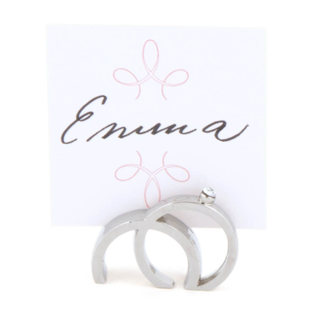 Wedding Place Card Holders Silver Rings Place Card Holders