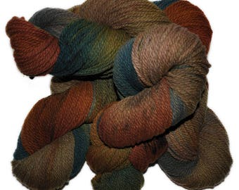 Hand dyed yarn - Columbia Wool yarn, Worsted weight, 170 yards - Althjof