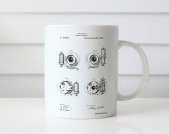 Camera Shutter Patent Mug, Photographer Gift, Camera Mug, Home Mug, Photography Mug, PP0707