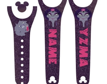 IMPROVED 2.0 Magic Band Decals, Yzma, Emperor's New Groove, Villain, evil sorceress, potion, Kronk, evil kitty, personalized band