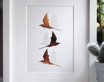 Copper Wall Art - Foil Art Print - Arctic Tern