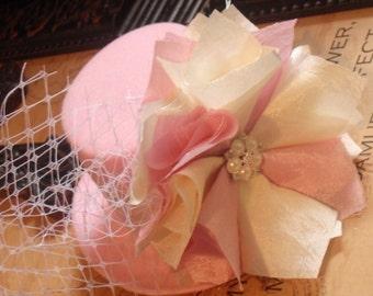Baby Girls Headbands, Birthday Hat Girl Party Hat, Mad Hatter Accessories, Flower Girl Headband, Headbands Photo Prop Baby