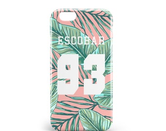 Hull Escobar 93. PVC. iPhone 4, 4s, 5, 5s, SE, 5 c, 6, 6, 6 Plus 6s Plus, 7 and 7 more, design illustration, madeinfrance, jungle, artmars