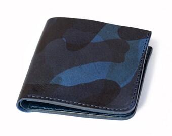 Roberu Navy Camouflage Short Wallet