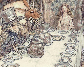 Arthur Rackham Alice In Wonderland Vintage Art Print