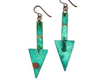 Patina Geometric Earrings