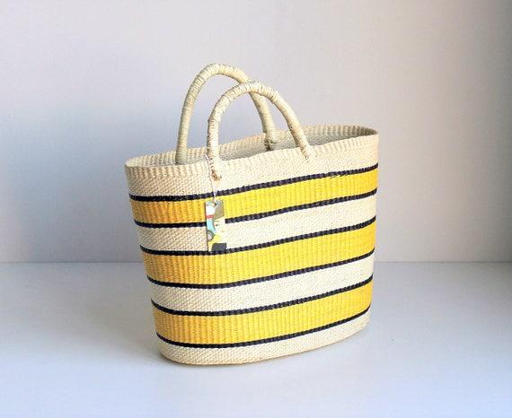 STRIPED YELLOW BAG