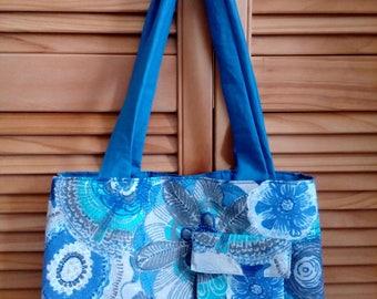 Blue spring hand bag