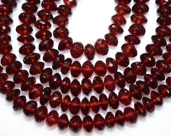 AAA Quality Mozambique Garnet Rondelle Beads 8 Inch Strand ,Mozambique Garnet Faceted Rondelle Beads , 6.50 mm - MC234