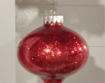 Shatter proof shimmery red ornament--shatterproof