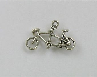 Sterling Silver 3-D Tandem Bicycle Charm