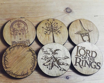 Lord Of The Rings Inspired Set of 6 Coasters