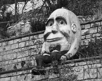 Humpty Dumpty - Nursery Rhyme - Eureka Springs Arkansas - Wall Art - Sat on a Wall