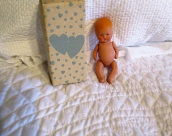 Vintage Kerr and Hinz Santa Clara California Bisque Doll All Original