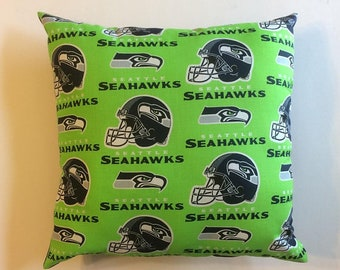 "NFL Seahawks Throw Pillow Set Of 2 15""X15""  *New Handmade*"