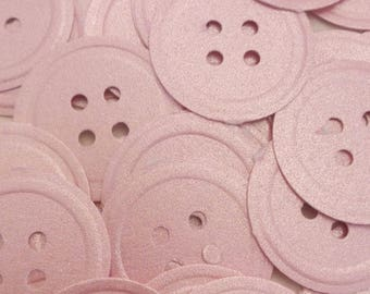 50 Martha Stewart buttons confetti, Hand punched, Die Cut, Embellishment,Scrapbooking,Party Decor,Baby Shower