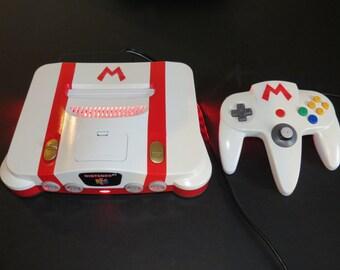 Custom Nintendo 64 N64 Console Fire Mario