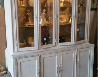 RESERVED******Painted Distressed China Cabinet
